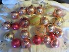 Vintage Shiny Brite West Germany and Italy Mercury Glass Ornaments Pink Lot 23