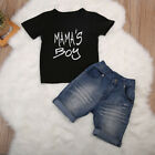 Toddler Kid Baby Boy Clothes T Shirt Top Denim Shorts Pants Outfit Set US Stock