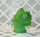 Fenton Butterfly Chameleon Green Glass Hand Decorated