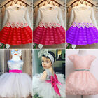 USA Toddler Girls Princess Dress Kids Baby Party Pageant Lace Tulle Tutu Dress