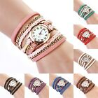 Fashion Women Girls Vintage Weave Wrap Around Bracelet Quartz Wrist Watch Sports