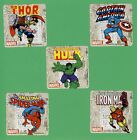 10 Marvel Comics Large Stickers Captain America Thor Hulk Spider Man
