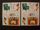 Creative Memories Lot Two Block Stickers Letter to Santa Fireplace More