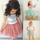 US Seller Baby Girls Lace Dress Kids Party Pageant Princess Casual Tutu Dresses