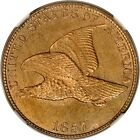 1857 1C Flying Eagle Cent NGC MS64 PHOTO SEAL