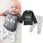 Baby Long Sleeve Boy Kid Outfits Clothes T shirt Tops+Pants Leggings 2pcs Set US