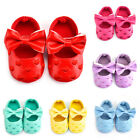 US Stock Baby Soft Sole Leather Shoes Infant Girl Toddler Moccasin Bow Sole 0 18