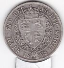 1898   Queen  Victoria  Half  Crown (2/6d) - Sterling  Silver Coin