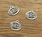 20pcs Musical Charms Music Note Charms Antique Silver Tone 20x17mm 1352