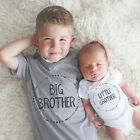 US Stock Little Brother Baby Boy Kids Romper Big Boy T shirt Matching Outfits