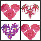 Amazing Heartof Flowers Embroidered Iron On Patches