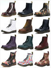 Dr Martens 8 Eye Classic Airwair 1460 Leather Canvas Ankle Boots Unisex UK 3 11