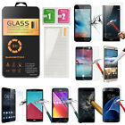NEW HD Tempered Glass Protector Film For LG ZTE HTC Sony iPhone Huawei Samsung