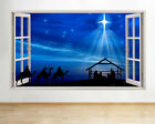 Wall Stickers Christmas Nativity Scene Star Window Decal 3D Art Vinyl Room C721