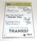 NEW Stampin Up ONE BIG MEANING 7pc WM Stamp Set Thanks Thank You Phrases