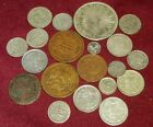 LOT 19 OLD MIXED MEXICO COINS: MOSTLY SILVER A FEW COPPER,  FREE SHIPPING