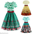 US Womens Vintage Dress Floral Style Rockabilly Cocktail Party Swing Dresses