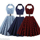 US Vintage Style Swing 50s 60s Housewife Retro Pinup Rockabilly Evening Dress