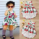 USA Toddler Baby Girls Kid Party Floral Roses Sundress Summer Dresses Clothes