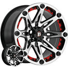 Ballistic 814 Jester 17x9 5x127 5x5 12mm Black Machined Wheel Rim