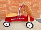 Vintage Wooden Radio Flyer Toddler Ride-On 4 Wheel Scooter Bike