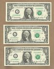 2006 $1 Kansas City, Missouri Three Rare Sequential Star Notes  Uncirculated