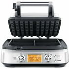 Slice Waffle Maker Smart 4 Slice Non Stick Automatic Stainless Steel 12 Settings