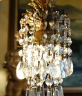 Lamp mini Chandelier hanging Crystal prism Brass brass plate cast Spelter pendan