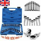 Professional 12pc Flexible Combination Spanners Ratchet Wrench Tool Set 8-19mm