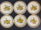 SET LOT 6 MIKASA Stone Manor Melissa SALAD Plates F5811 FLORAL Stoneware JAPAN
