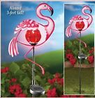 Flamingo Solar Lighted Outdoor Decor Pink Metal Bird Yard Patio Garden Stake