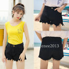 Summer Women Vintage High Waist Shorts Female Jeans Torn Hole Short Jeans