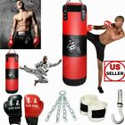 Full Heavy Boxing Set Empty Punching Bag Gloves Training MMA Taekwondo Workout
