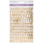 MultiCraft Font Fun Stickers Gold Reflective Letters