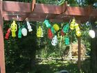 21 Vintage 3 Strands TIKI BLOW MOLD PATIO LIGHTS CAMPING LANTERNS Pagoda Beehive