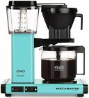 Moccamaster KBG 10 Cup Coffee Maker Brewer Machine With Glass Carafe Turquoise