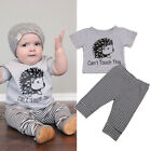 2pcs Toddler Kids Baby Boys Outfits T shirt Tops+Pants Clothes Set Outfits US