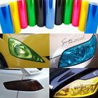 Car Clear Vinyl Film Tint Wrap For Protect Headlights Fog Lights Lamp 3 Layer Us