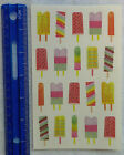 Mrs Grossman WATERCOLOR POPSICLES Giant Sheet of Stickers