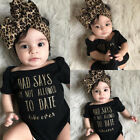 US Stock Newborn Baby Girls Romper Bodysuit Jumpsuit Headband Outfits Clothes