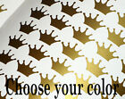 100 Gold Crown wall decal Princess Sticker Nursery Girls Room Vinyl Yeti Cup