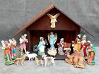 Vintage Nativity Set 18 pcs 5 inch Made in Italy 10 Creche Hand Painted