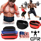 US Weight Lifting Nubuck Leather Power Belt Back Support Strap Gym Dip Training