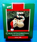 Hallmark Childs Fifth Christmas Ornament Dated 1989