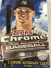 2017 Topps Chrome Baseball Factory Sealed Hobby Box - 2 Autos Per Box