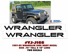 QJ J166 JEEP 1997 05 WRANGLER FENDER NAME DECAL SET LICENSED