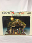 Vintage Sears Nativity Set 97894 9 Pc Wooden Creche Manger Stable Made in Italy