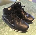 Black Leather Nike High Top Basketball Shoes Kids Size 5Y UK 45 EUR 375