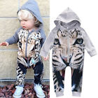US Newborn Toddler Baby Boy Girl Romper Long Jumpsuit Bodysuit Clothes Outfits