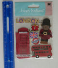 Jolees Boutique LONDON Dimensional Sticker Package of 8 Pieces
